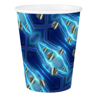 Cosmic Rain Floating Metal Drops Paper Cup