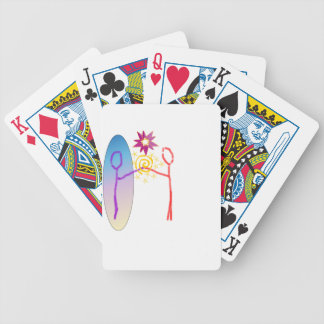 Cosmic Reunion: Fear_Feels_Love Bicycle Playing Cards