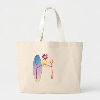 Cosmic Reunion: Fear_Feels_Love Large Tote Bag