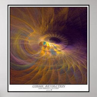 COSMIC REVOLUTION / caption Poster