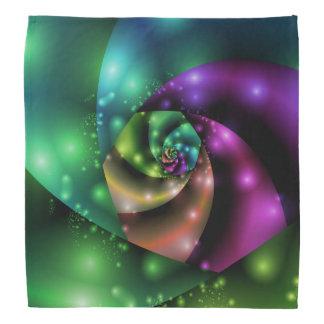 Cosmic Rose Fractal Bandana