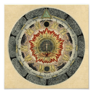 Cosmic Rose Mandala Photo Print