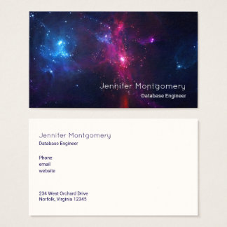 Cosmic Space Stars and Nebula Modern Business Card