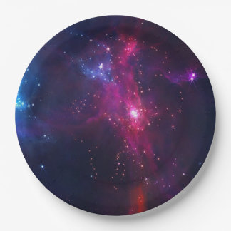 Cosmic Space Stars and Nebula Paper Plate