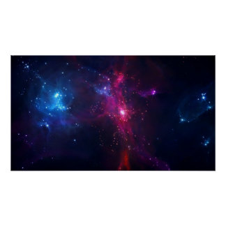 Cosmic Space Stars and Nebula Poster
