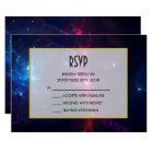 Cosmic Space Stars and Nebula RSVP Card