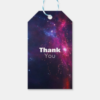 Cosmic Space Stars and Nebula Thank You Pack Of Gift Tags
