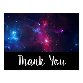 Cosmic Space Stars and Nebula Thank You Postcard