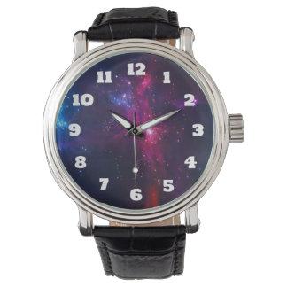Cosmic Space Stars and Nebula Wristwatches