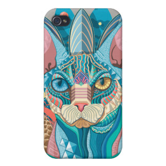 Cosmic Sphynx Cat iPhone 4 Cover