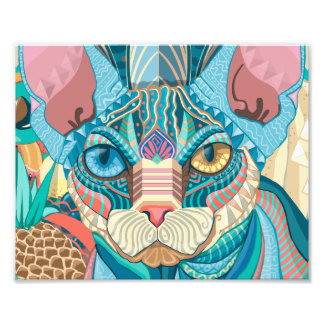 Cosmic Sphynx Cat Photo Print