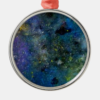 Cosmic starry sky - orion or milky way cosmos Silver-Colored round ornament