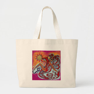 Cosmic Sunshine Large Tote Bag