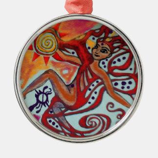 Cosmic Sunshine Silver-Colored Round Ornament