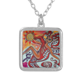 Cosmic Sunshine Silver Plated Necklace