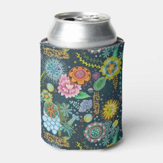Cosmic Tarot Floral Pattern   Beverage Cooler