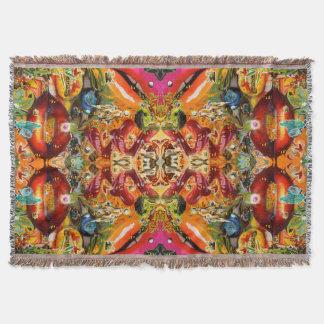 Cosmic Taste of Healing Artwork by Deprise Throw Blanket