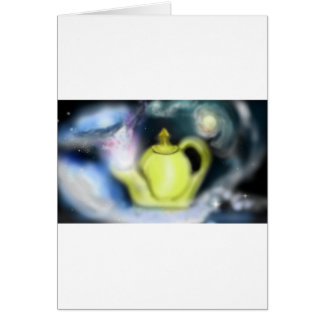 Cosmic Tea Pot Greeting Card