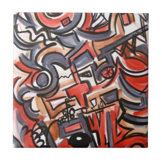 Cosmic Tension - Abstract Art Tile