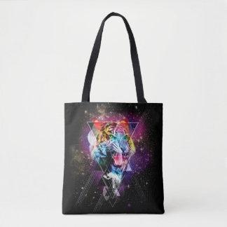 Cosmic Tiger Tote Bag