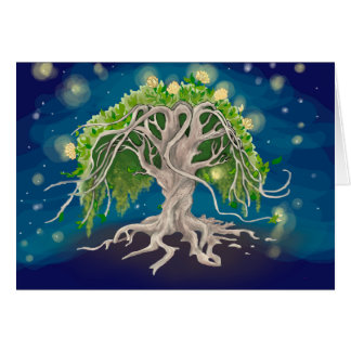 Cosmic Tree Greeting Cards