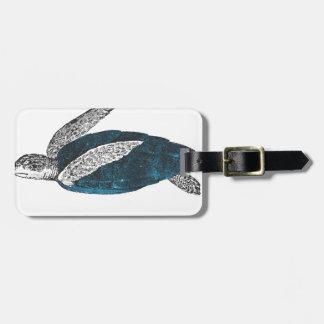 Cosmic turtle 2 luggage tag