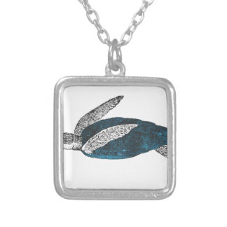 Cosmic turtle 2 silver plated necklace
