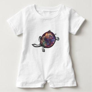 Cosmic turtle 3 baby romper