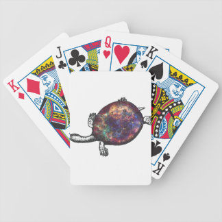 Cosmic turtle 3 bicycle playing cards