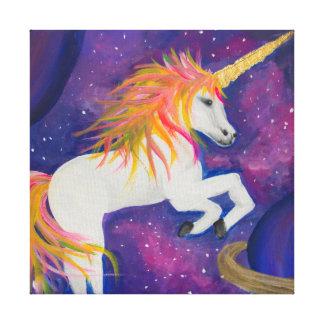 Cosmic Unicorn Canvas Print
