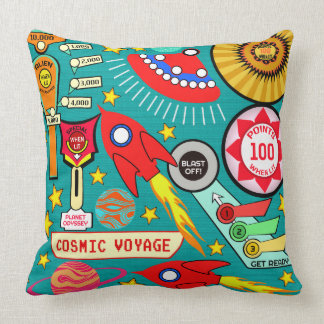 Cosmic Voyage Pinball Throw Pillow