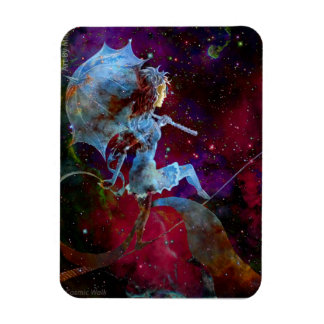 Cosmic Walk Magnet of Woman Traveling the Galaxy