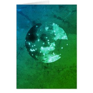 Cosmic watercolour card