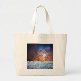 Cosmic Winter Landscape Large Tote Bag