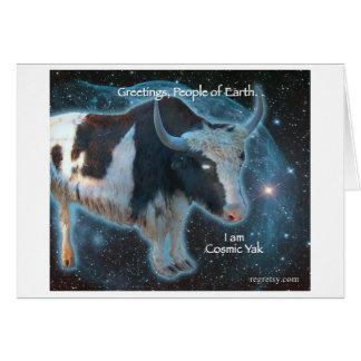 Cosmic Yak Note Card
