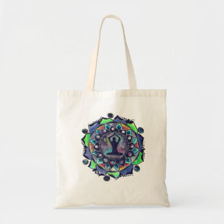 Cosmic Yoga Moon Phases Tote Bag