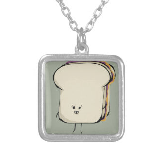 CosmicPBJ, the Ultimate Sammich! Silver Plated Necklace
