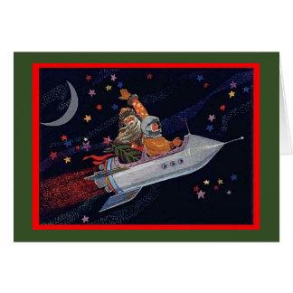 Cosmonaut Santa Christmas Card