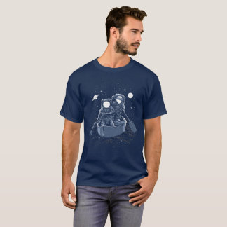 Cosmonauts in Space Astronauts Rowing a Boat T-Shirt