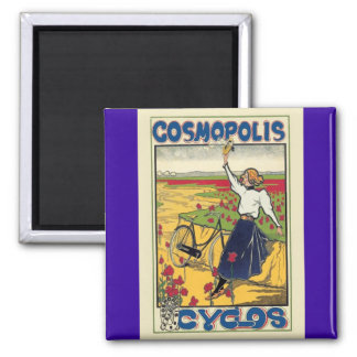 Cosmopolis Cyclos Vintage Bicycle Advertising Magnet