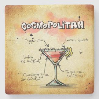 Cosmopolitan Bartender Drink Recipe Stone Coaster