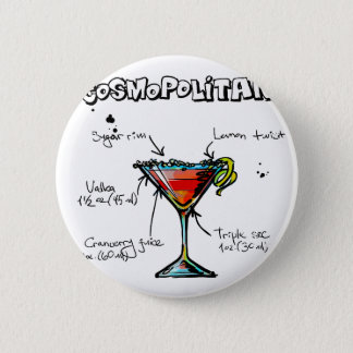 Cosmopolitan Cocktail Recipe 2 Inch Round Button