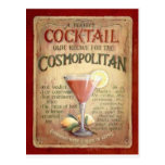 cosmopolitan cocktail recipe postcard