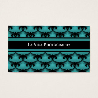 Cosmopolitan Glam Business Card, Teal Business Card