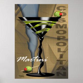 Cosmopolitan Martini | art deco Poster