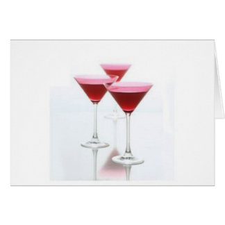 COSMOPOLITAN MARTINI GREETING CARD