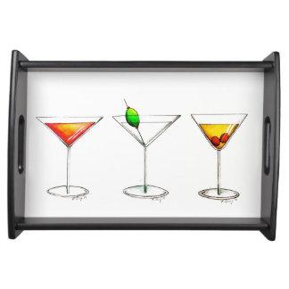 Cosmopolitan Martini Manhattan Cocktail Drink Tray