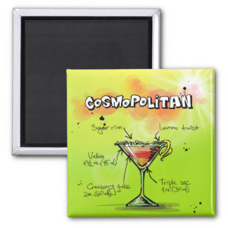 Cosmopolitan Recipe - Cocktail Gift Magnet