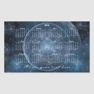 Cosmos Background 001 - Calendar 2018 Sticker