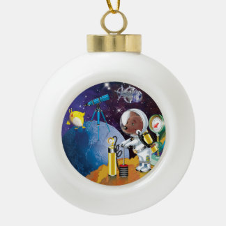 cosmos ceramic ball ornament